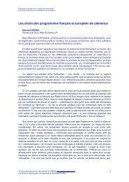 colloque du 19 janvier 2005, Les droits des programmes ... - CREDA
