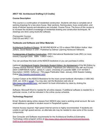 ARCT 102: Architectural Drafting II (5 Credits) Course Description ...