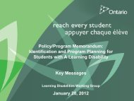 Key-messages-January.. - Learning Disabilities Association of Ontario