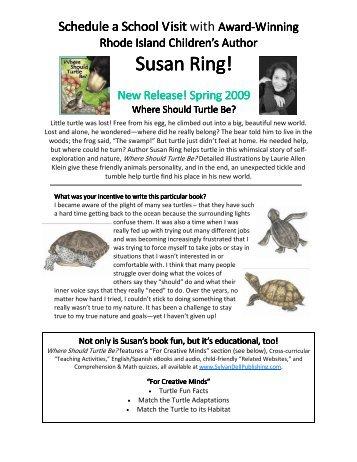 School Visit-Susan Ring - Sylvan Dell Publishing