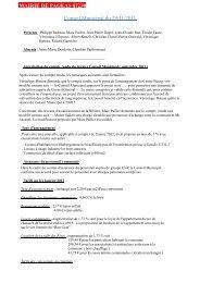 MAIRIE DE PAGEAS 87230 Conseil Municipal du 29/11/2011