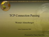 TCP Connection Passing