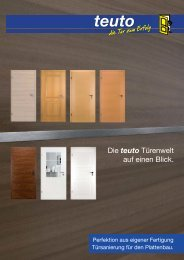 Die teuto Türenwelt auf einen Blick. - teuto Bauelemente GmbH
