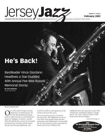 He's Back! - New Jersey Jazz Society