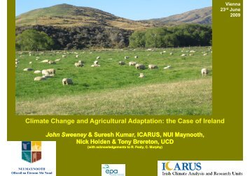 Climate change and adaptation options in Irish agriculture - adagio
