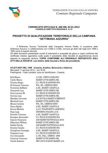 Comitato Regionale Campania - Federazione Italiana Pallacanestro