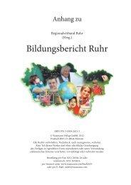 Bildungsbericht Ruhr - Anhang, Tabellen