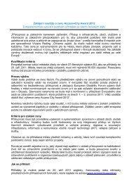 Zahájení soutěže o cenu AccessCity Award 2012 ... - Euroskop.cz