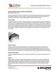 Energy Savings White Paper - Schaefer Ventilation Equipment