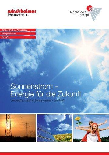 TechnologieConcept Imagebroschüre - Windsheimer Photovoltaik