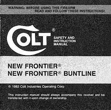 Colt New Frontier Buntline