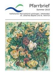 Pfarrbriefe online erstellt - kath. Pfarrgemeinde St. Johannes Baptist ...