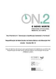 Requalificação da Rede Escolar do Ensino Básico e ... - O Novo Norte