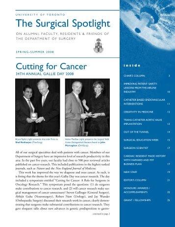 Spring-Summer 2008 (Printable PDF) - The Surgical Spotlight