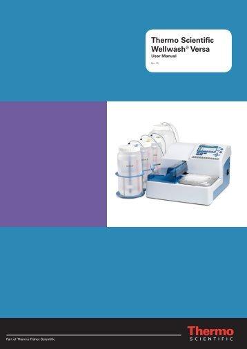 N11166 ver1.0 Wellwash Versa User Manual - Thermo Scientific
