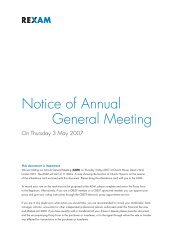 Notice of Annual General Meeting on Thursday 3 May 2007