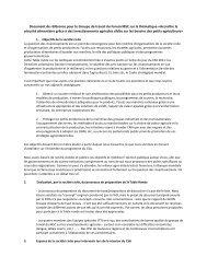 Document de référence pour le Groupe de travail du Forum ... - CSM
