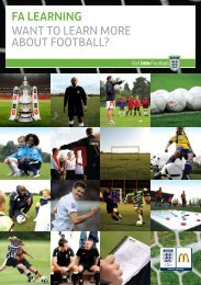 FA LeArning Want to learn more about football? - The Football ...