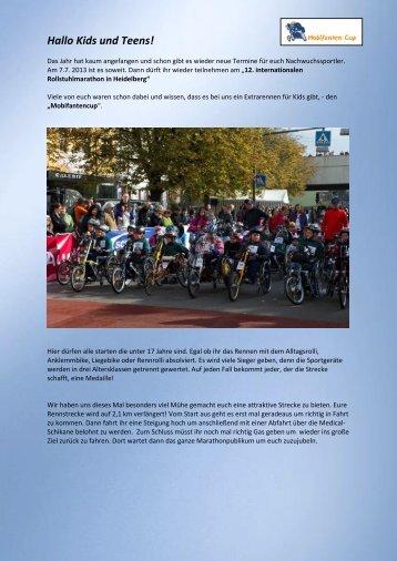 12.Heidelberger Rollstuhl Marathon - Rollikids