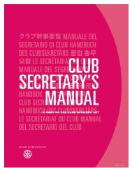 Club Secretary's Manual - Rotary International