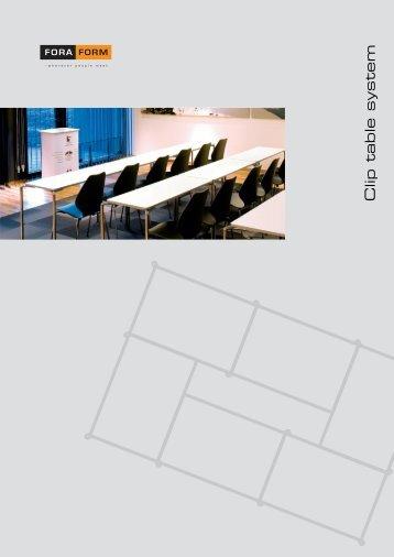 Clip table system - Foraform