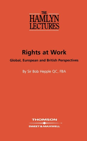 Rights at work - College of Social Sciences and International ...