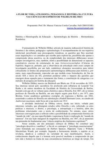 A FLOR DE TODA A FILOSOFIA - Centro de Ciências Humanas ...