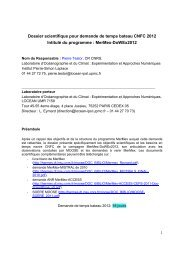 Demande de campagne DoWEX2012 - CNRS