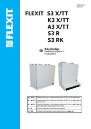 Käyttöohje FLEXIT S3 X/TT K3 X/TT A3 X/TT S3 R S3 RK