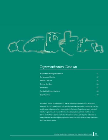 Toyota Industries Close-up - Toyota Industries Corporation