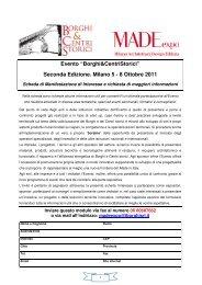 Seconda Edizione. Milano 5 - 8 Ottobre 2011 - Borghi srl