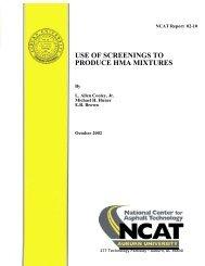 use of screenings to produce hma mixtures - Auburn University