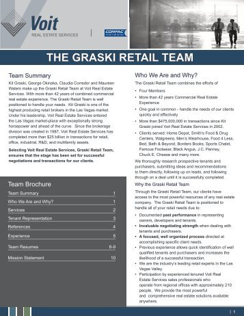 THE GRASKI RETAIL TEAM - Voit Real Estate Services