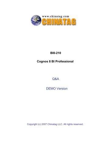 Q&A DEMO Version - Chinatag.com