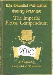 Frosh 2010 - The Gauntlet