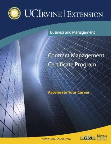 Contract Management Certificate Program - UC Irvine Extension ...