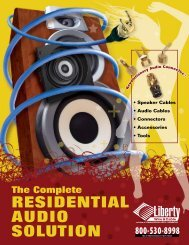 RESIDENTIAL AUDIO SOLUTION - Hill Residential Systems