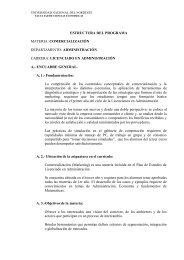 estructura del programa materia - facultad de ciencias económicas ...