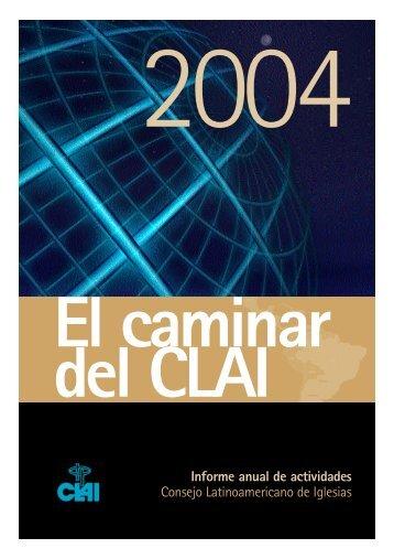 Informe anual de actividades Consejo Latinoamericano de Iglesias