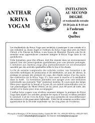 ANTHAR KRIYA YOGAM - Babaji's Kriya Yoga