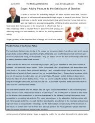 Sugar: Adding Pleasure to the Satisfaction of Starches - Dr. McDougall