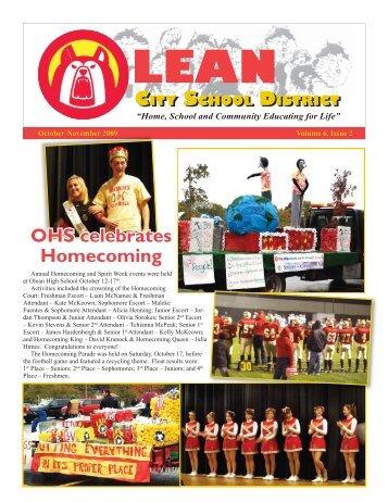 October - November 2009 - Olean City School District