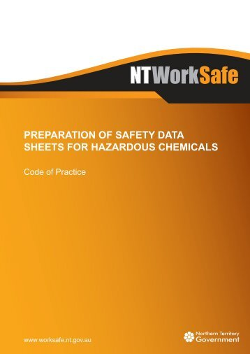Preparation of Safety Data Sheets for Hazardous Chemicals