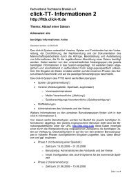 click-TT- Informationen 2 - Fachverband Tischtennis Bremen FTTB