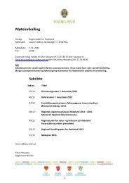 Innkalling og saksliste til regionradsmøte 7.desember ... - Hadeland