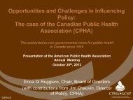 E. Di Ruggiero - World Federation of Public Health Associations