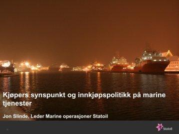 Kjøpers synspunkt og innkjøpspolitikk på marine tjenester - NHO