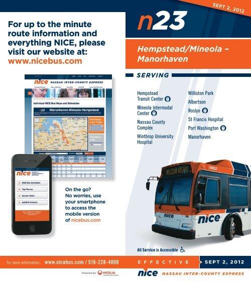 n23 Hempstead/Mineola - NICE bus