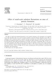 Effect of small-scale turbulent uctuations on rates of particle formation