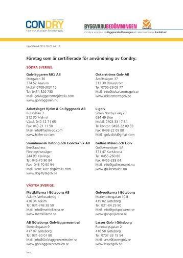 Se lista på företag som är Certifierade!